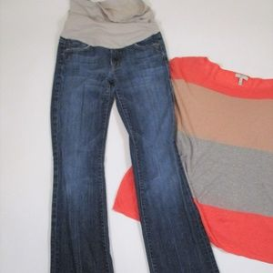 7 FAM Maternity Jeans sz 27 Flare Leg Medium Wash